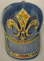 Denim Hat with Bling *[Fleur de Lis] Gold